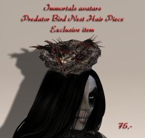 Predator Bird Nest Hair Piece salespic
